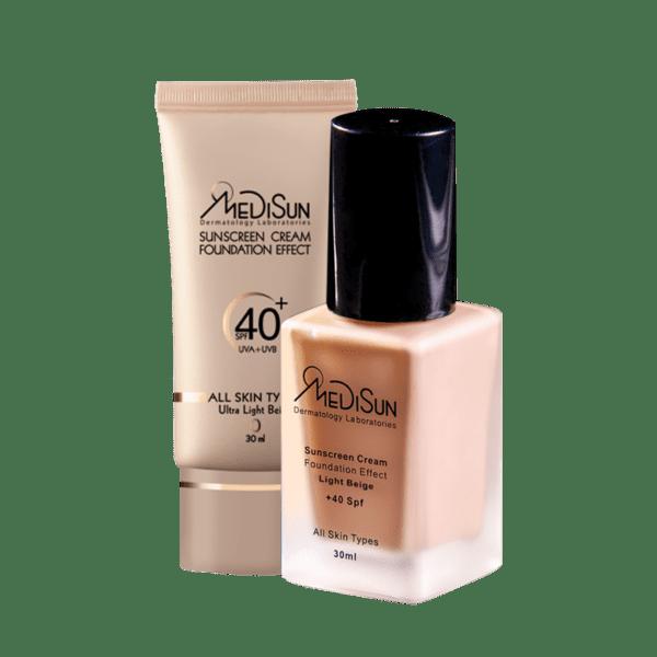 medisun sunscream all skin 1 600x600 - ضد آفتاب کرم پودری SPF40 مناسب پوست خشک