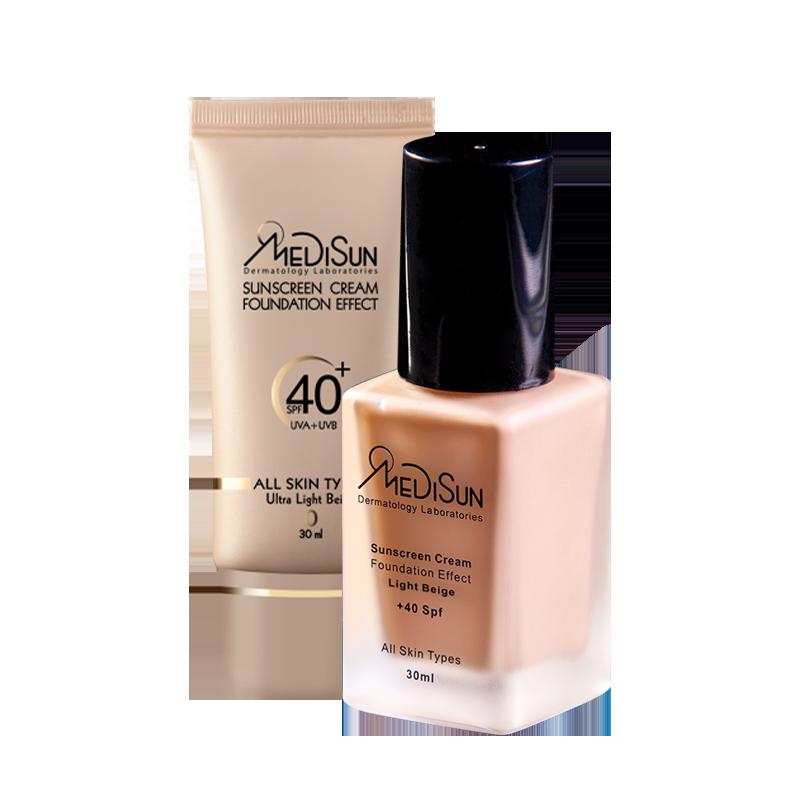 medisun sunscream all skin 1 - كريم بودرة مديسان للوقاية من أشعة الشمس SPF40 مناسب للبشرة الجافة