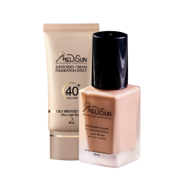 medisun sunscream oil free 1 600x600 - ضد آفتاب کرم پودری SPF40 مناسب پوست چرب