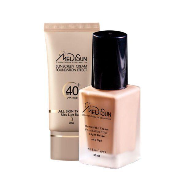 medisun sunscream all skin 1 600x600 - ضد آفتاب کرم پودری SPF40 مناسب انواع پوست و پوست خشک